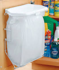 Kitchen Cabinet Door Storage by Rack Sack Kitchen Trash Can System In Cabinet Trash Cans Apt