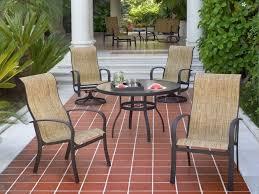 high back swivel rocker patio chairs woodard fremont sling