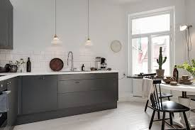 Dark Gray Kitchen Cabinets Gray Kitchen Cabinets With Leather Handle