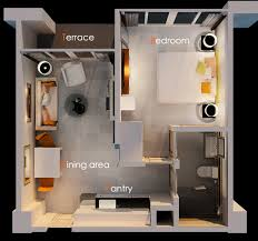 One Bedroom Efficiency Apartments One Bedroom House Plans 3d Google Search Espacios Pinterest