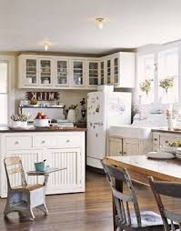 Cottage Chic Kitchen - marble countertops shabby chic kitchen cabinets lighting flooring