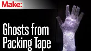 How To Make Halloween Decorations For Yard How To Make Packing Tape Ghosts Youtube