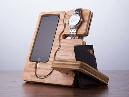 Desk Valet Charging Station The Wood Docking Station Doubles As A Desk Organizer Gadgetsin