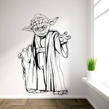wall stickers decals 2 roselawnlutheran yoda star wars vinyl wall art room sticker decal movie themed wall decals wall stickers walpaper