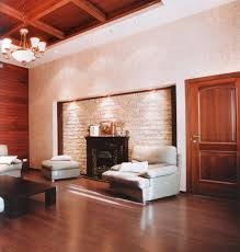 awesome white dark brown wood modern design homes living and