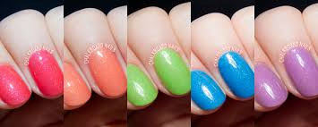 serum no 5 u0027s shimmery glow in the dark nail polishes for spring