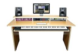 Recording Studio Desks Desk Arranger 88 Maple Keyboard Desk Plenty Of Workspace Home