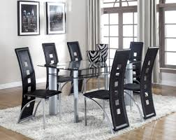 crown mark 1170 5pc 5pc contemporary glass table and 4 side chairs
