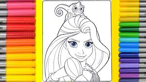 coloring rapunzel colouring page magic coloring book for children