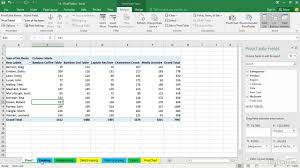 How To Do A Simple Spreadsheet Create A Pivottable To Analyze Worksheet Data Office Support