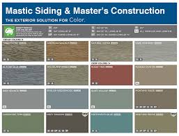 vinyl siding color chart mastic color chart siding colors