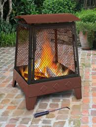 the fire pit landmann haywood tree leaves sturdy steel fire pit 25326 the