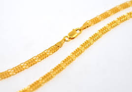 gold braided chain necklace images 22k 22ct solid gold fancy thick flat designer braided chain necklace 3 jpg