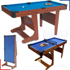 4ft pool table folding bce 4ft6 clifton folding pool table pt2046d ebay