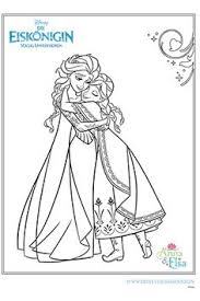 anna hugging elsa snow queen coloring coloring