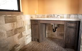 Rustic Bathroom Ideas Reclaimed Gray Barn Wood Bathroom Vanity Rustic Bathroom