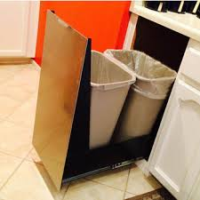 kitchen cabinet trash pull out pull out built in trash cans cabinet slide out under sink