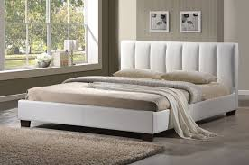 limelight pulsar white 4ft small double faux leather bed frame by