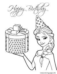 Elsa Present Colouring Coloring Pages Printable