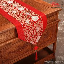 patchwork 120 inch extra long luxury banquet table runner damask