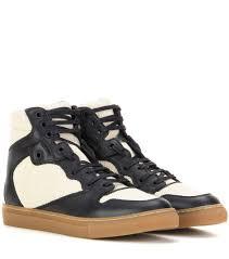 balenciaga short balenciaga embellished leather wedge sandals