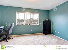 simple home interior simple home office room interior with blue walls royalty free