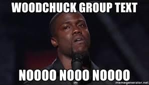 Kevin Hart Text Meme - woodchuck group text noooo nooo noooo kevin hart face meme