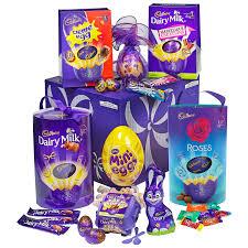 deluxe easter egg hamper cadbury gifts direct