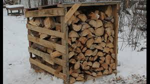 Cord Wood Storage Rack Plans by Firewood Storage The Easy Way Pallet Wood Sheds Youtube