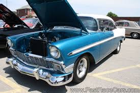 Chevy Muscle Cars - muscle cars u003e 55 57 chevy u003e picture of blue and white 1956