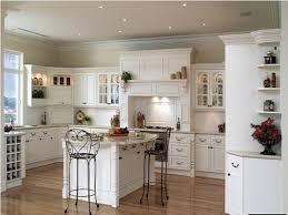 Antique White Country Kitchen Cabinets Home Design White Brick Wallpaper Garden Landscape