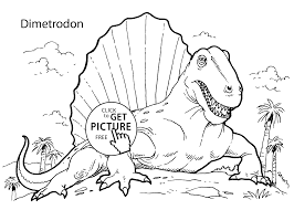 dimetrodon dinosaur coloring pages for kids printable free