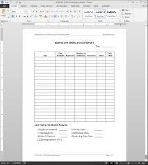 cfo report template hr hiring status report template