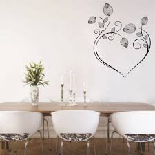 painting stencils for wall art decoration ideas black lovely flower on light grey wall painting