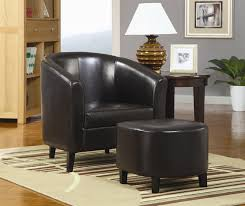Accent Chair And Ottoman Black Vinyl Accent Chair And Ottoman By Coaster 900240