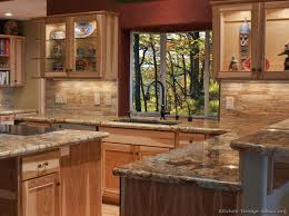 Backsplash Kitchen Ideas by Top 25 Best Rustic Hickory Cabinets Ideas On Pinterest Hickory