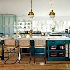 Beautifully Colorful Painted Kitchen Cabinets - Blue painted kitchen cabinets