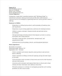 Sales Objective For Resume Banking Resume Samples 45 Free Word Pdf Documents Download
