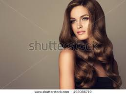 girl hair beautiful girl wavy shiny hair stock photo 492086719