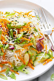 noodle salad recipes spring roll noodle salad recipe eatwell101