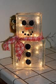 glass block christmas decoration glass blocks snowman and craft