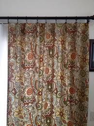 Bathroom Earth Tone Color Schemes - curtain panels in multi colored earth tone home decor fabric