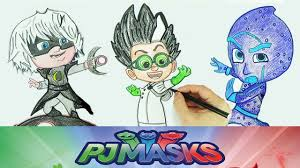 draw villains pj masks drawing