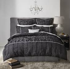 francesca black quilt cover set by logan u0026 mason platinum