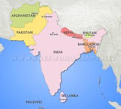 south asia countries map south asian countries map major tourist attractions maps