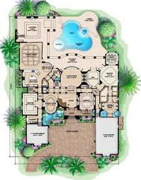 mediterranean mansion floor plans floor plan of florida luxury mediterranean house plan 60485