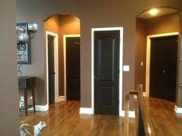 how to update the look of dark wood trim with modern paint colours