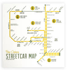 New Orleans Street Map by New Orleans Streetcar Map U2013 The Grove Street Press