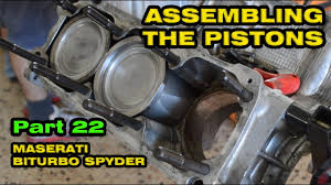 maserati v12 engine assembling the v6 engine maserati spyder part 22 youtube