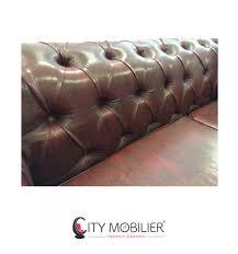 canapé cuir sur mesure canapé rétro américain sur mesure chesterfield city mobilier